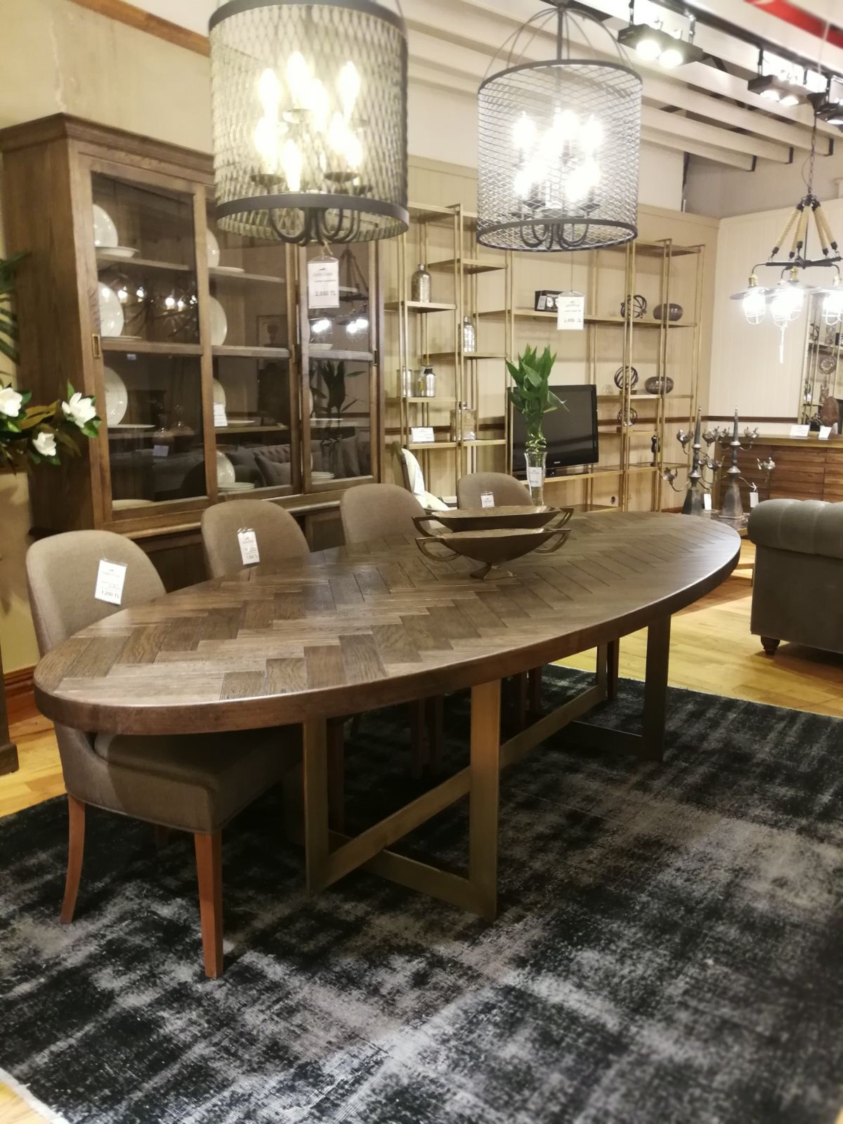 Harringbone Dining Table